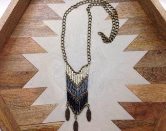 Beaded ombré necklace