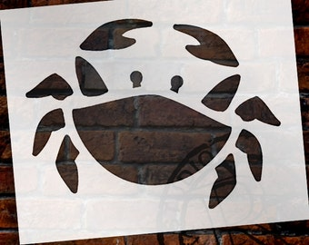 Basic Crab Art Stencil - Select Size - STCL1506 - by StudioR12
