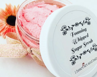Mother Gift, Foaming Whipped Sugar Scrub, Hand and Body Wash, Scented Bath Soap, Hand Softening, Gift for Mom, From Daughter From Son