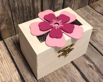 Pink Flower Love Box