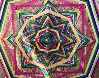The Katy Star - Mandala Handmade Decor-18 inch, 8 sided Ojo de Dios Godseye