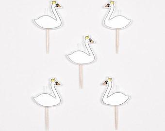 Swan Princess candles pk of 5