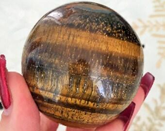 Tigers Eye Crystal Ball, Gazing Sphere, Altar Tool