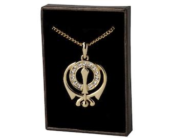 Symbol Necklace - SIKH KHANDA - 18K Gold Plated