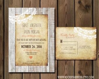 Rustic Wedding Invitation Suite _1227