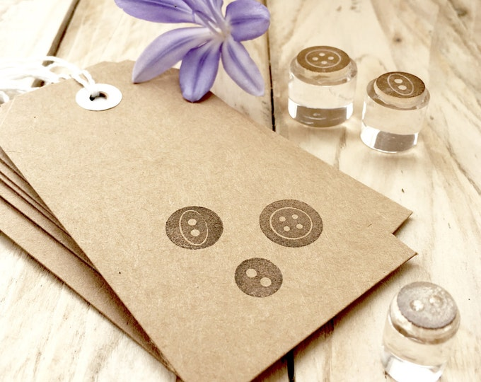 Button Stamp - Buttons - Button Stamp Set - Haberdashery - Vintage Button Stamp - Set of Button Stamps - Clear Stamps - Little Stamp Store