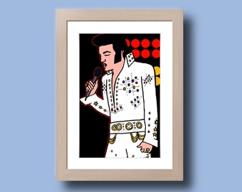 Elvis Presley - Illustration - print on photo paper - photographic print artwork
