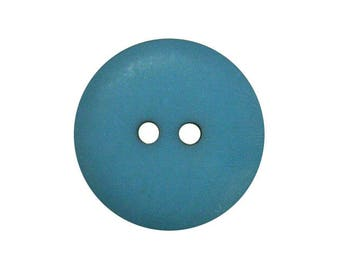 Round button colorful 2 hole 15MM Peacock color
