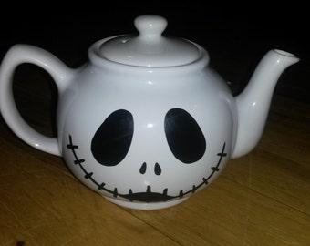 Jack Skellington Nightmare Before Christmas Handpainted 6 Cup Teapot