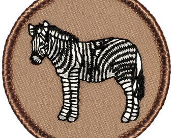 Zebra Patch (186) 2 Inch Diameter Embroidered Patch