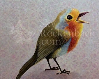 Songbird, 12x12 Canvas