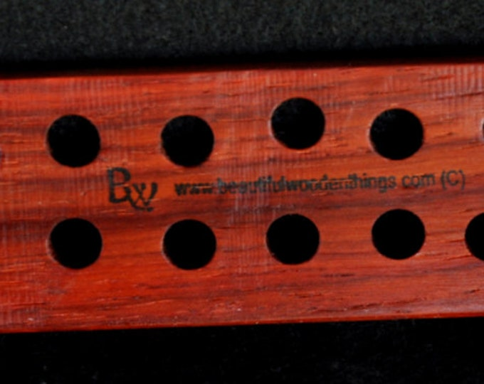 3 palette set of  hand made floss /thread palettes made from exotic pakka wood