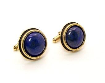 Blue Egpyt Lapis Lazuli Cufflinks – Deep Blue Cufflinks – Lapis Lazuli Cufflinks