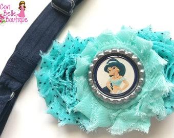 Princess Jasmine Inspired Shabby Flower Clip