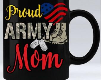Proud Army Mom - 11oz black mug