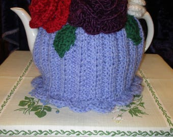 Beautiful Posy of Roses Tea Cosy (Lilac) vibrant Flowers