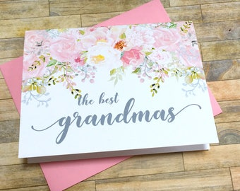 Pregnancy Announcement to Grandma - Pregnancy Reveal to Grandmother - Great Grandma Pregnancy Promotion Card - GARDEN ROMANCE