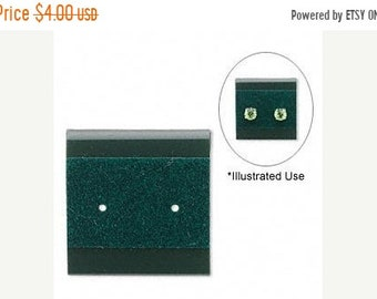 TAX SEASON Stock up 50 Pack Green Velour 1x1 Inch Plastic Hanging Earring Cards