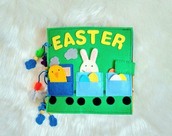 Baby Activity book Quiet book Busy book Easter gift Felt book Montessori Felt toys Educational toys Quiet book for toddlers