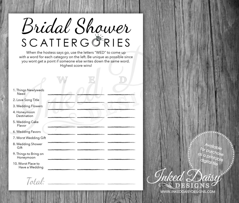 INSTANT DOWNLOAD Bling Shower Game Bridal Shower