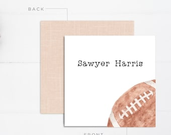 Boys Calling Cards | Kids Calling Cards | Football Gift Tags | Mommy Calling Cards | Playdate Cards | Mommy Cards | Personalized Gift Tags