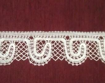 A decorative Russian bobbin lace