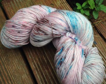 Blue Haired Fairy - NEW hand dyed sock yarn superwash Merino wool blend 462 yards 100 grams, natural and professional dye