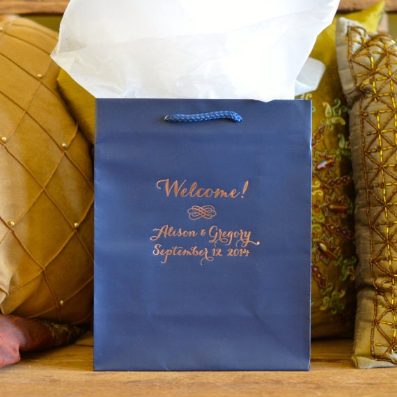 50 Personalized Wedding Welcome Gift Bags Out Of Town Guest