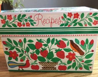 Vintage Hallmark Recipe Box