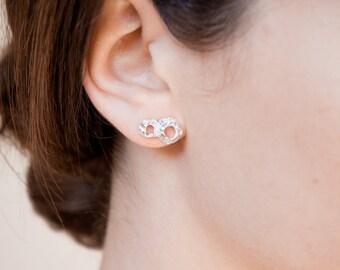 Delicate Earrings Silver, Tiny Minimal Earrings, Sea Lover Gift, Dainty Silver Earrings Stud, Minimalist Earrings Silver Post, Silver 925