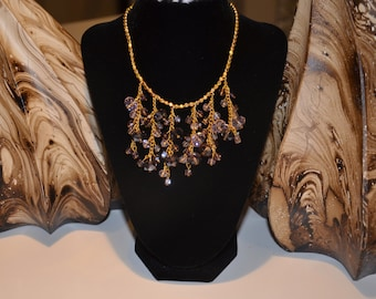 Modish Crystal Beads Statement Necklace