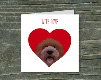 Doodle Heart - Chocolate/Brown/Red dog