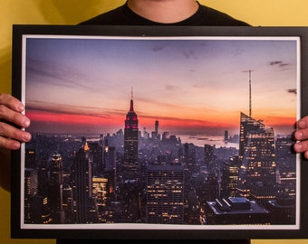 NYC Sunset - 14x20 Poster Print (Limited Run, Edition of 20) Signed & Numbered