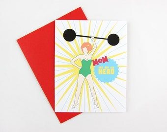 My Hero: Mom / Mother's Day Card