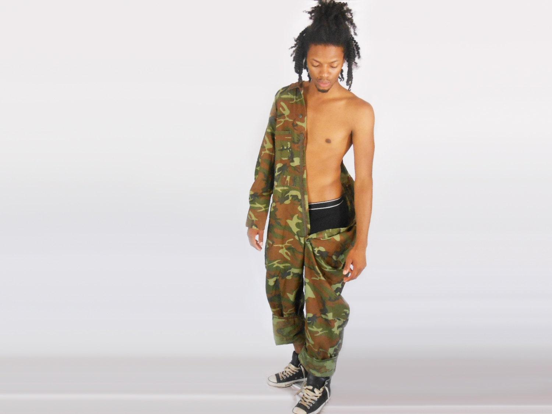Camo Overalls/ Jumpsuit Men/ Coveralls/ Military Jumpsuit/