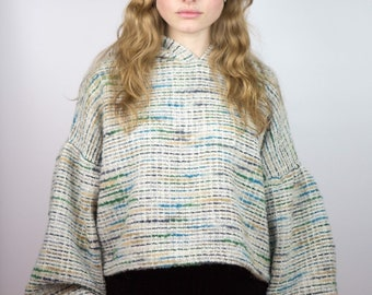 Multicolored Knit Hoodie