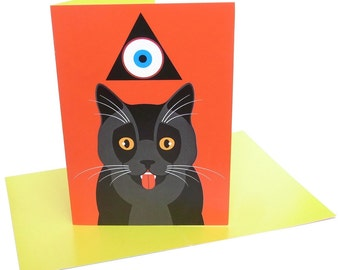 Hell Cat (A6 greeting card)