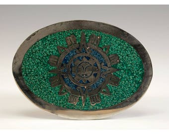 Vintage Belt Buckle Crafted In Mexico