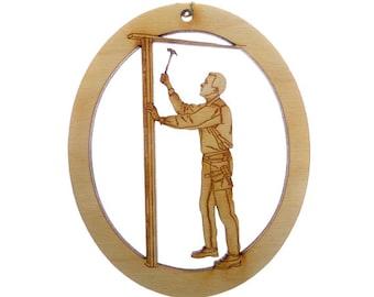 Carpenter Ornament, Male - Carpenter Gift - Gift for Contractor - Handyman Gift - Gift For Handyman - Personalized Contractor Ornaments