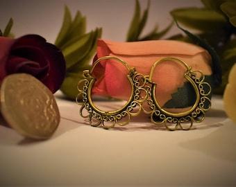 Indian Brass Hoop Earrings