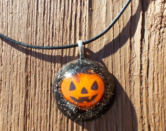 Sparkly Pumpkin necklace