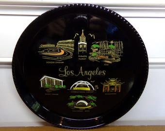 Vintage 1960's  Los Angeles Tray