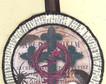 Black Cross Halloween Ornament