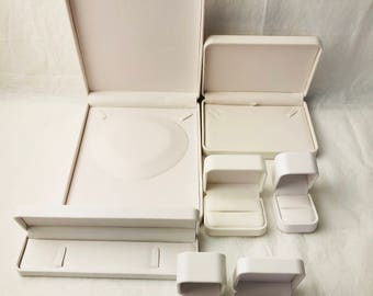 Round Corner Style  white Faux Leather Boxes