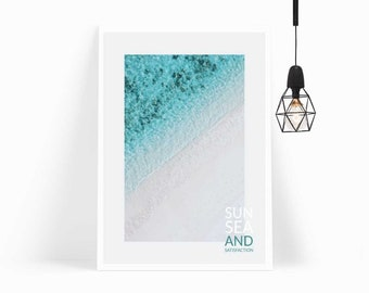 Wall Art,Poster,Prints,Home Decor,Art Print,Gift,Photography, Beach Decor, Bedroom Decor,Modern Art,Framed Art, Ocean, Blue,Beach Print