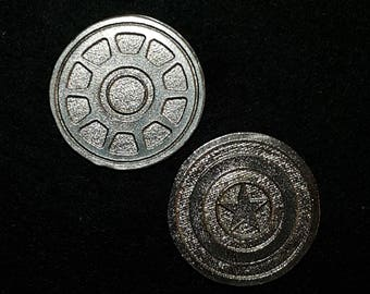 Civil War Heads or Tails Pewter Flipping Coin