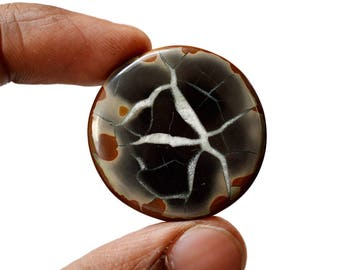Septarian 54.5 Cts Natural  Top Quality Gemstone Cabochon Round Shape 32x32x5 MM R14681