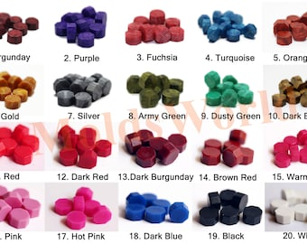 Free Shipping Sealing Wax Beads 20 Colors for Wax Seal Stamp Burgunday Gold Red Blue