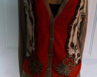 New York co spring weight cardigan sweater m
