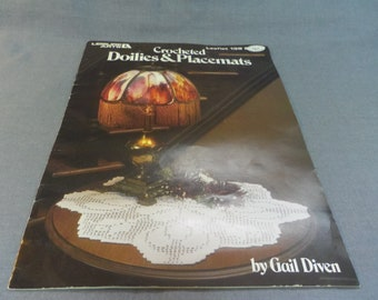 Crochet Patterns, Doilies and Place Mats, Gail Diven, Leisure Arts Leaflet 139, 1979 Thread Crochet Projects, Home Decor